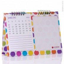 La pomme - presentes personalisados Calendário de mesa Personalizado - com lousa 15 x 21 (2015)