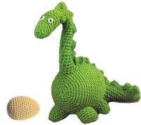 Free Crochet Patterns Amigurumi Dinosaur   Pattern for Amigurumi Dinosaur by crochetpattern on Etsy