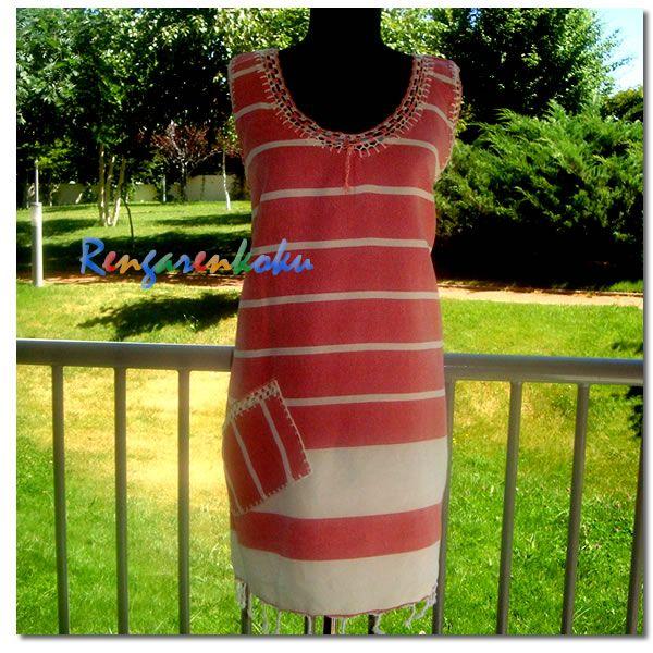 Rengarenkoku:Peştemal elbise.Lütfen fiyat bilgisi ve siparişleriniz için rengarenkoku@gmail.com adresine e- posta yollayınız.instagram adresimizden facebook sayfamızdan da tasarımlarımızı izleyebilirsiniz..
