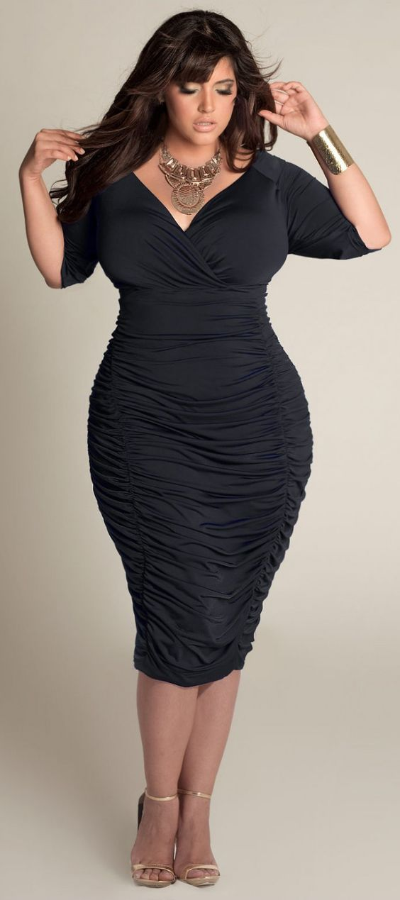 Sexy Plus Size Black Dress at www.curvalciiousclothes.com Ambrosia Plus Size Dress in Black Sizes 12-32 #LBD #plussize