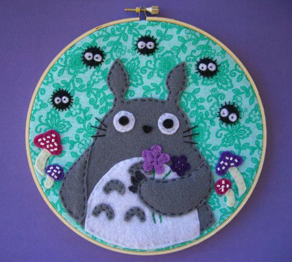 my neighbor totoro fanart   deviantART: More Like Green My Neighbor Totoro Embroidery Hoop by ...