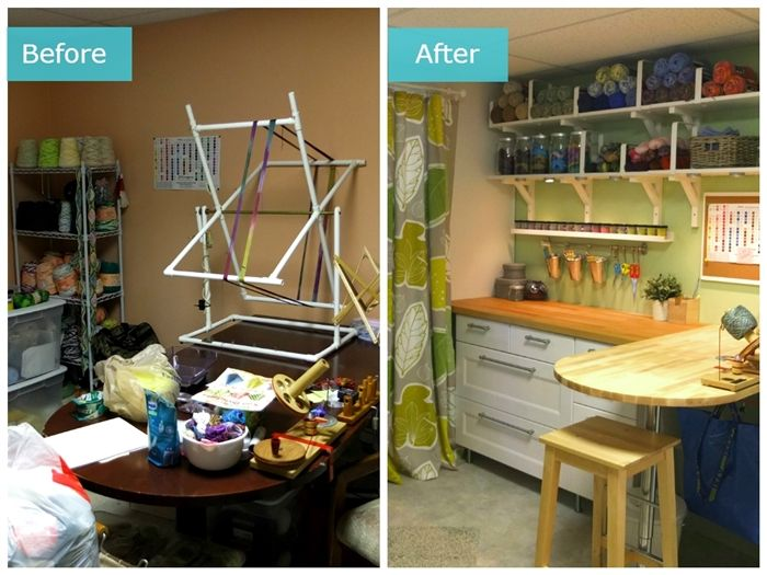 Craft Room Makeovers: See How The #IKEAHomeTour Squad Turned A Messy Craft Room