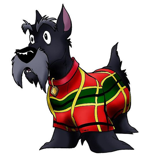 Jock the Scottie dog from Lady and The Tramp | Qutone › Portfolio › Lady And The Tramp: Jock