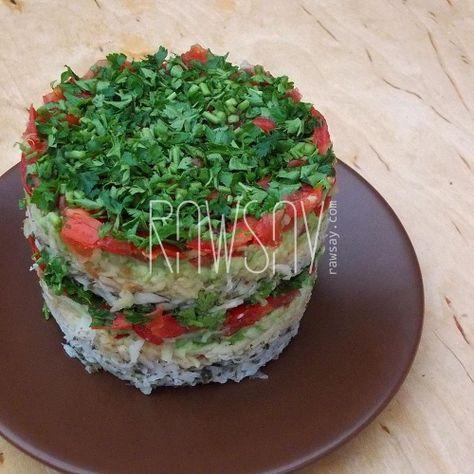 Многослойный салат - Сыроедение, рецепты и диеты - Rawsay