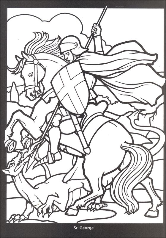 Coloring Pages Cool Stuff George vs. dragon - Enjoy Coloring