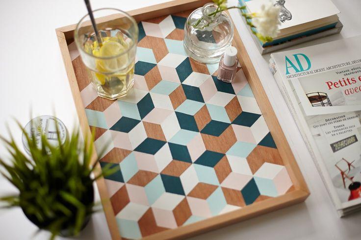 DIY - Le plateau géométrique