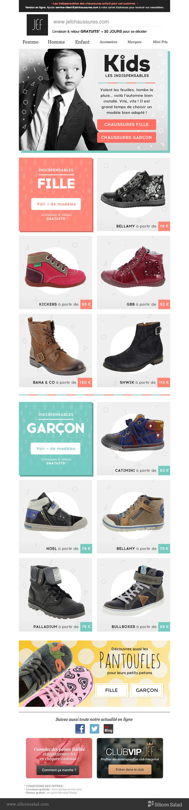 Newsletter Jef Chaussures by Silicon Salad