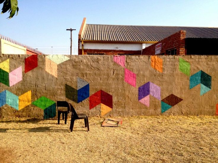 Street art by selah in south african township.