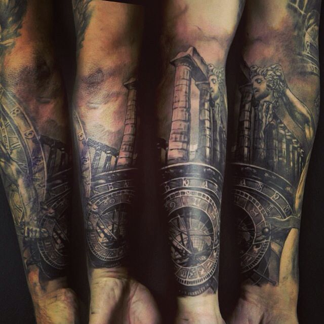 greek mythology tattoo tattoos pinterest mythologie tattoos halblange rmel und. Black Bedroom Furniture Sets. Home Design Ideas