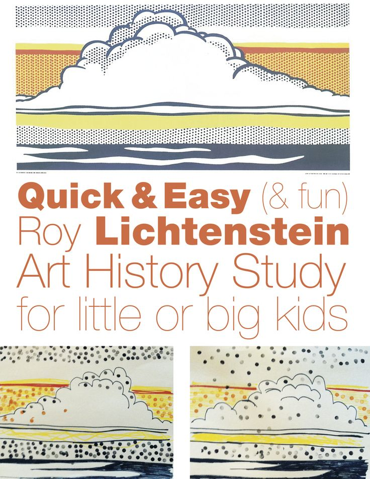 Quick & Easy (& Fun) Lichtenstein Study
