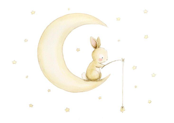 Ilustracion infantil luna