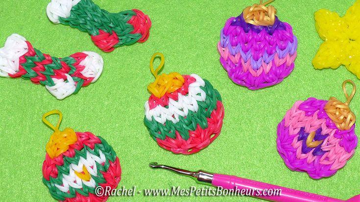 christmas stockings Rainbow Loom boules de Noël