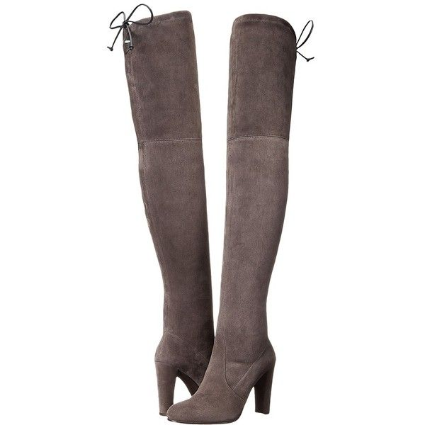Stuart Weitzman Highland Women's Dress Pull-on Boots ($798) ❤ liked on Polyvore featuring shoes, boots, over-the-knee boots, thigh boots, high heel leather boots, faux leather over the knee boots, stretch thigh high boots and slip on boots
