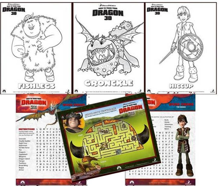 how to train your dragon free printables @ dreamworks!! Yay, this link is awesome! If I can't find just plain old dragon activity sheets for free.....