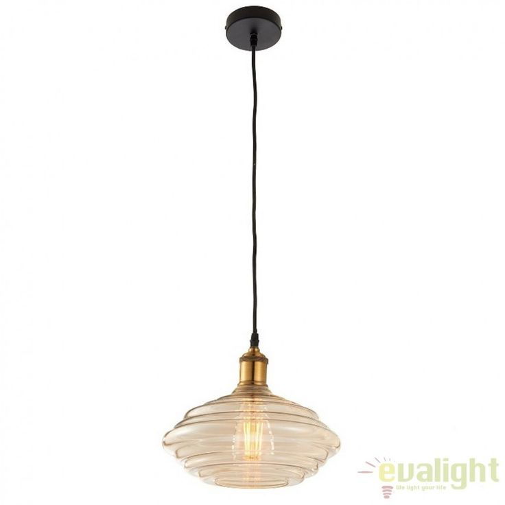 Pendul minimalist Vintage diametru 26cm Walker 61356 EN - Corpuri de iluminat…