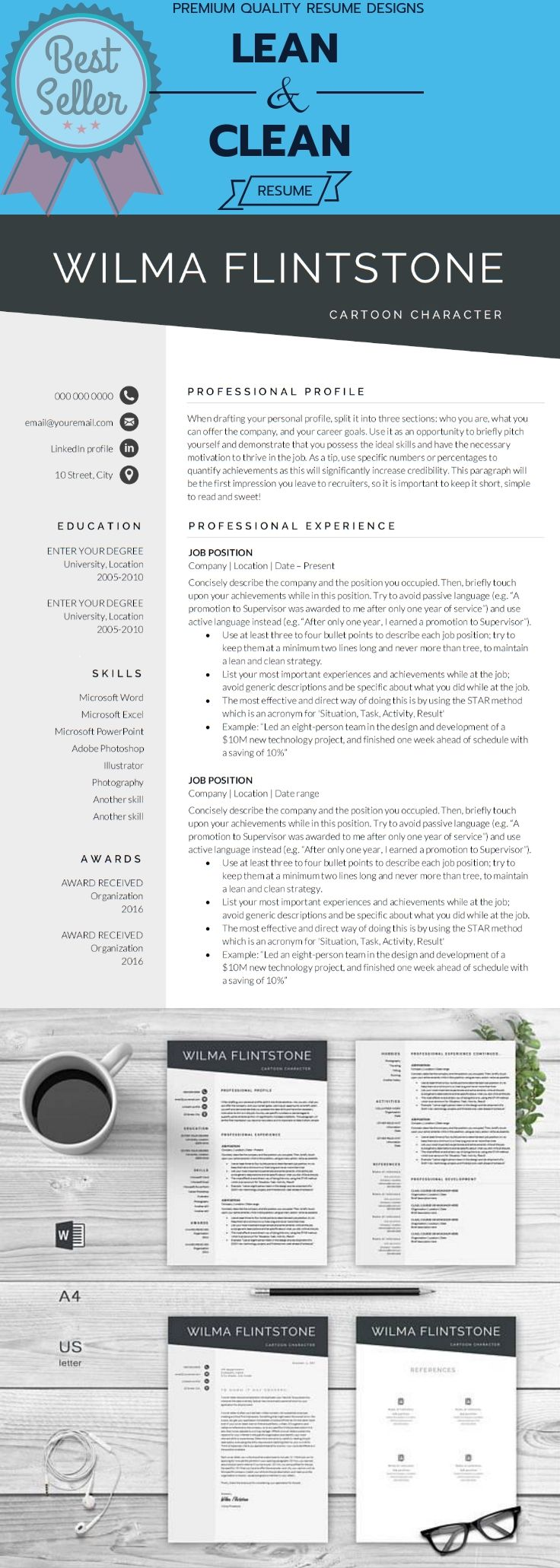 bartender job description resume%0A Resume Template   Modern Resume   Creative Resume   Professional Resume    Teacher Resume   Word