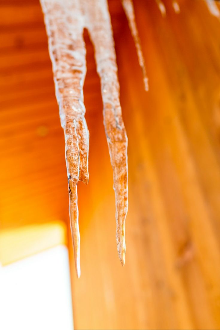 When water freezes, beautiful icicles form at The Lodge at Forest Lakes Country Club.