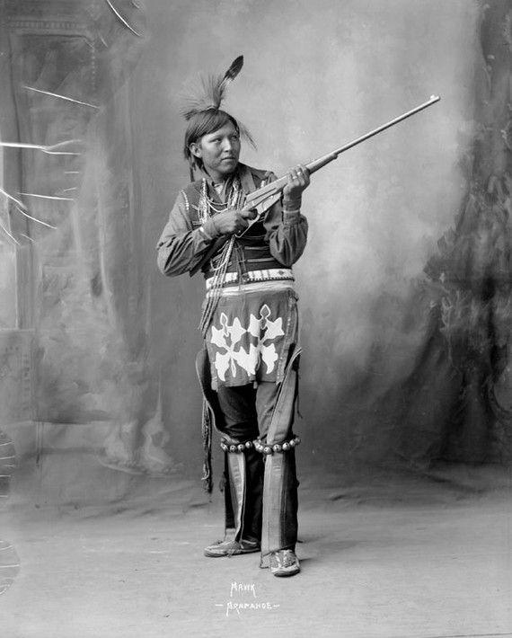 American Indian with rifle Arapahoe Indian by BigPhilsEmporium