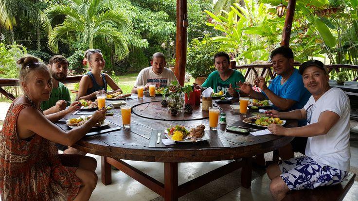 Almuerzo en La Jorara... Delicioso!!! Eco hotel Sierra Nevada de Santa Marta, Colombia