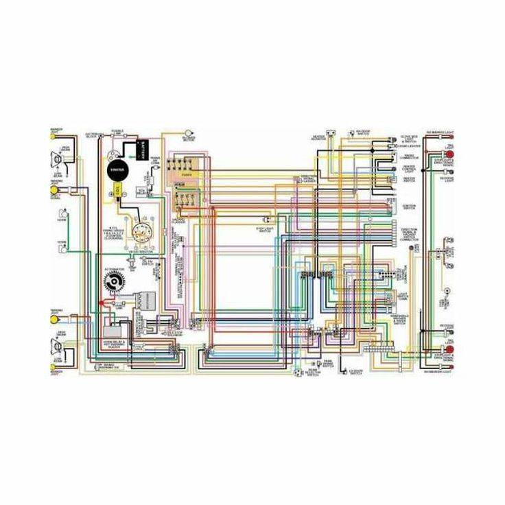 Corvette Color Laminated Wiring Diagram, 1953-1981 | Chevy ...