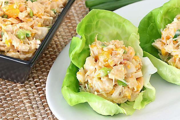 Mexi Shrimp Salad Wrap Recipe Recipe Asian Chicken Salad Recipe Asian Chicken Salads Hungry Girl Recipes