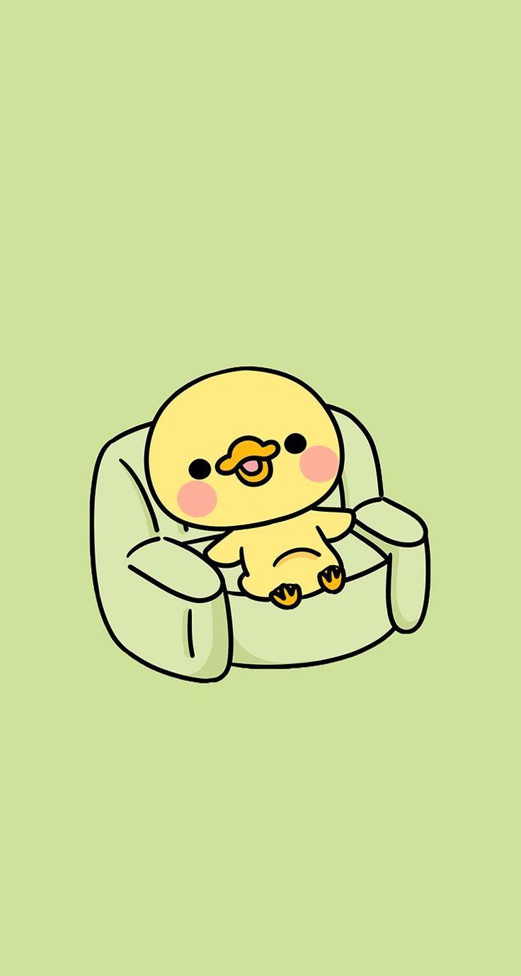 #cute #doodle #wallpaper #desktop #screensaver #iphone #background #smartphone #phone #husky #kawaii #duckling #duck
