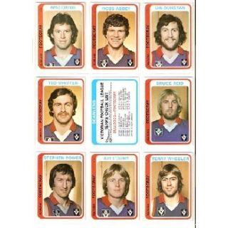 1979 VFL Scanlens Team Set. Footscray Bulldogs.
