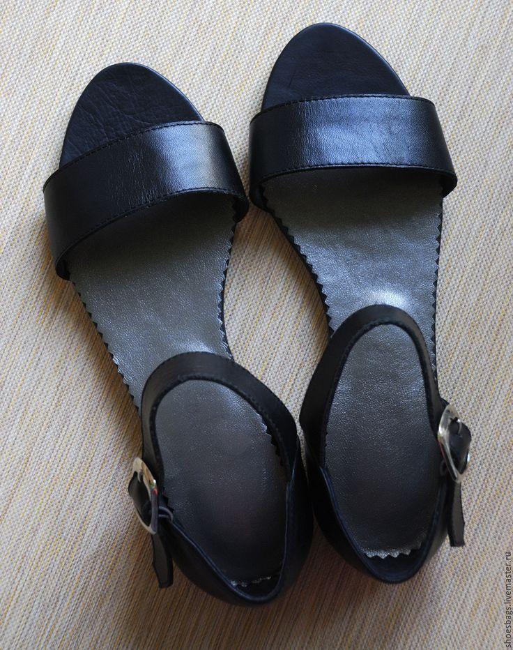 Купить Сандалии с закрытой пяткой - черный, сандалики, сандалии, сандалии из кожи, сандалии кожанные