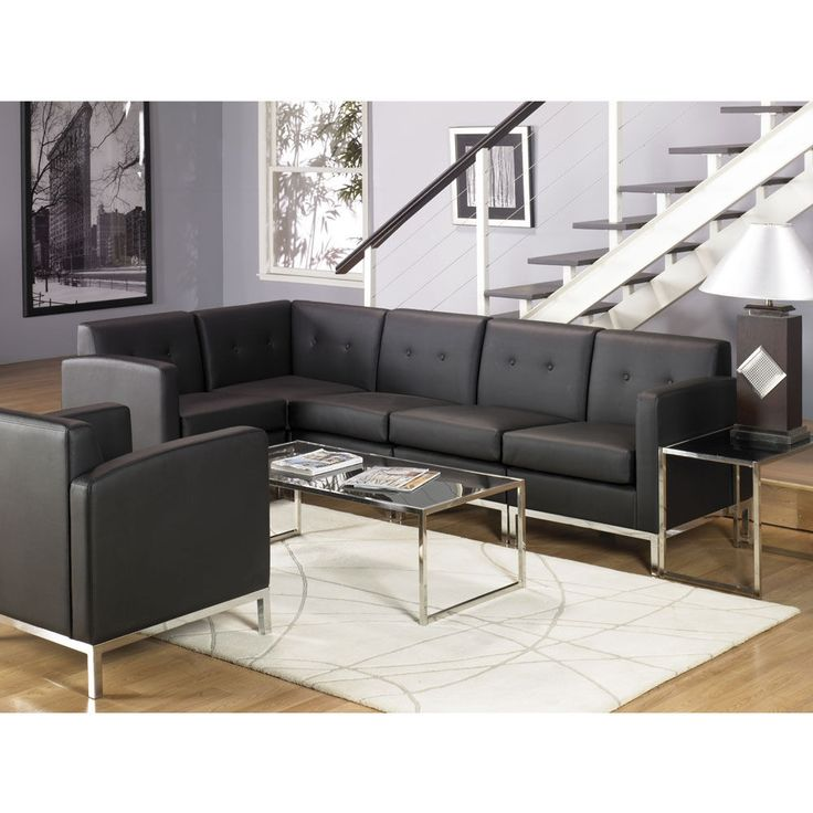 black living room chairs. Faux Leather L Shaped Sofa 15 best AVE SIX  Tables images on Pinterest Black Desks and