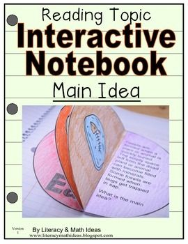 This document contains five different activities that focus on main idea. In this journal, students will:--Learn the meaning of main idea--Learn strategies they can use for determining the main idea--Read passages (passages are included) and determine the main ideaThe document contains instructions, a visual teacher assembly guide, and the answers$