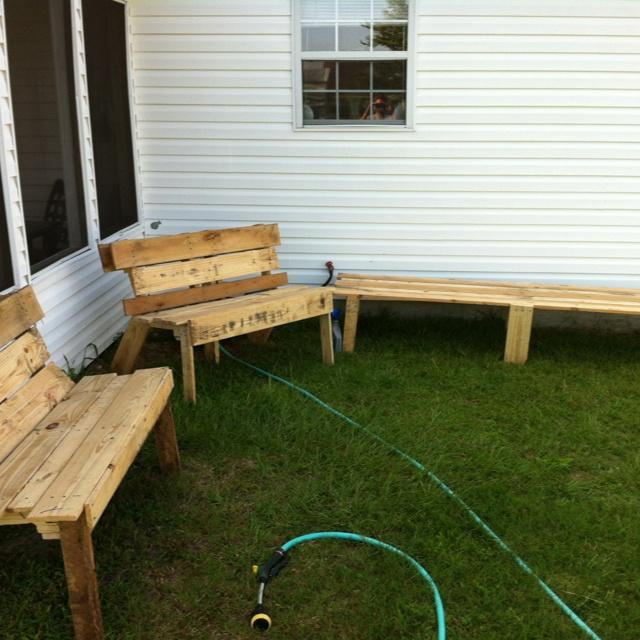 Pallet Furniture for outside.