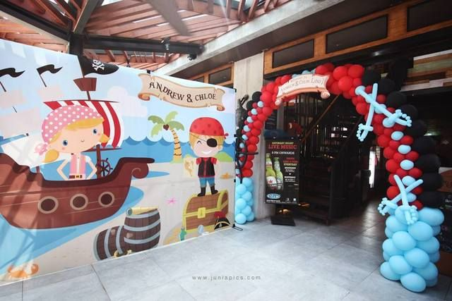 "Photo 2 of 24: Pirate Party / Birthday ""Captain andrew & chloe are turning one!"""