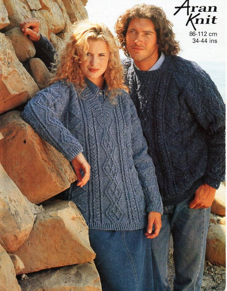 "womens mens aran sweater and tunic knitting pattern pdf ladies saddle shoulder cable jumper 34-44"" aran worsted 10ply pdf instant download by Hobohooks on Etsy"