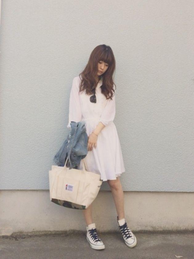 爽やかな抜け感がポイント♡甘タイプのガーリッシュ系のコーデ♡スタイル・ファッションのアイデア☆