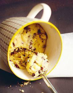 Mug cake cookie pour 1 personnes - Recettes Larousse Cuisine pour Elle à Table
