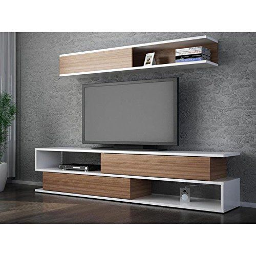 TV Stand For Flat Screen Design / Contemporary design open TV Stands / TV Console For Up to 60 inch Flat Screen. Contemporary Entertainment Center / Modern TV Wall Unit. Easy to Clean, Spacious and Comfortable. Excellent for Modern Homes. Functional and stylish. Modern Design Unique High Capacity Entertainment Unit - Tv Stand.