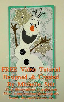 """Suitably Stamped: NEW """"Olaf"""" Punch Art Video Tutorial"""