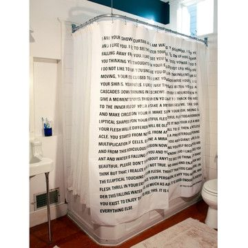 Fab.com | Dave Eggers Shower CurtainDecor, Showers, Dreams Home, Book Shower, Literary Shower, Things, Shower Curtains, Bathroom, Dave Egger