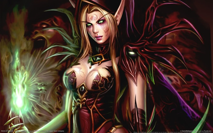 World of #warcraft, Blood elf #Warlock, from the WoW trading card game.