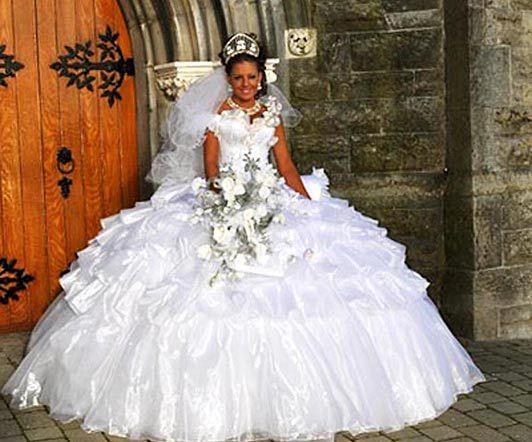 Romany gypsy wedding dress