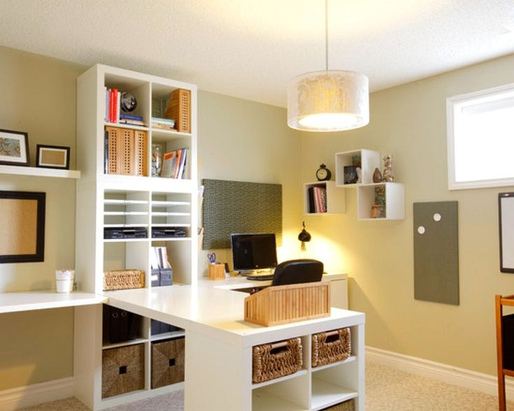 Traditional Home Office Craft Room Design, Pictures, Remodel, Decor And  Ideas   Page Ikea Expedit. Adobeu0027s Offices Vintage Oversized Mirr.
