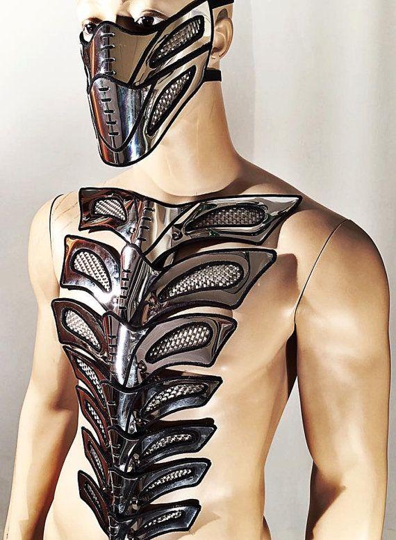futuristic spinebone bustplate armour warrior gladiator door divamp