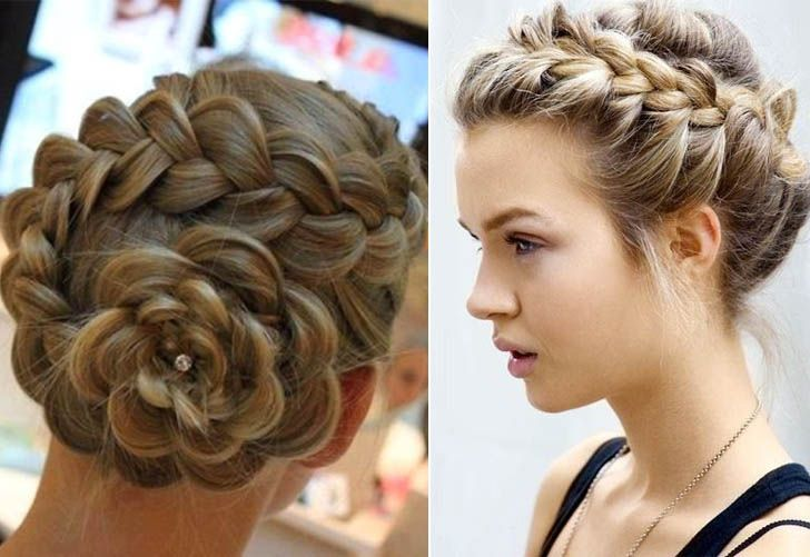 Peachy Hairstyle For Long Hair Updo And Perfect Bun On Pinterest Short Hairstyles Gunalazisus