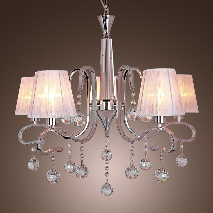 17 Best images about Chandeliers – White Chandelier with Shades