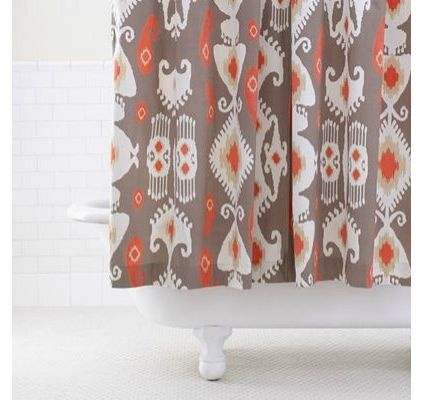 Coral Cream And Gray For The Home Pinterest Gray Curtains Curtains And Coral