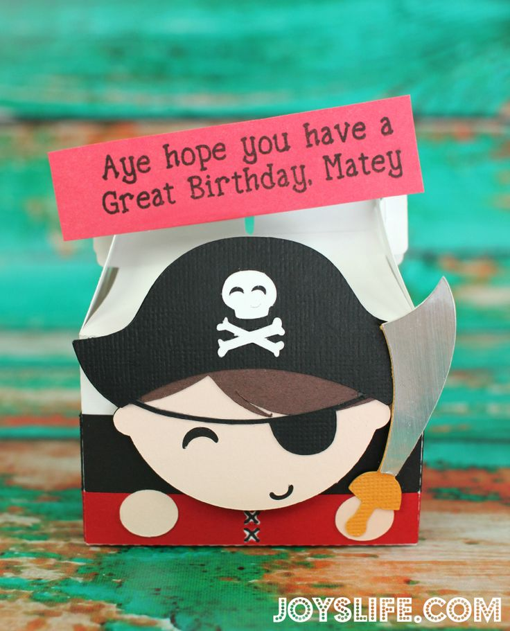Cute Pirate Box Perfect for Pirate Themed Parties