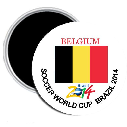World Cup 2014 My Favorite Team Belgium Pin Back Button 2.25""