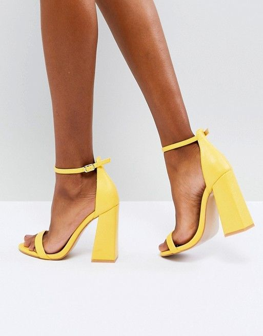9a8d54777ed0 Public Desire Tess Yellow Block Heeled Sandals  SandalsHeels ...