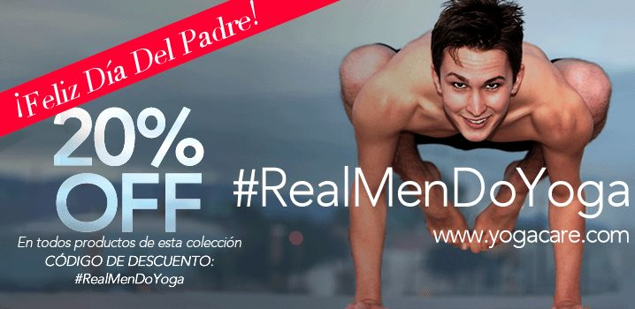 #RealMenDoYoga 20%OFF con código: #RealMenDoYoga