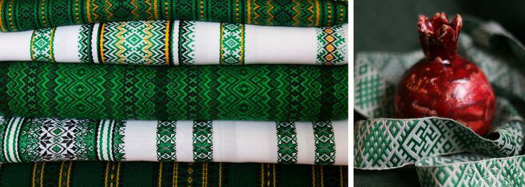 Узорные славянские ткани